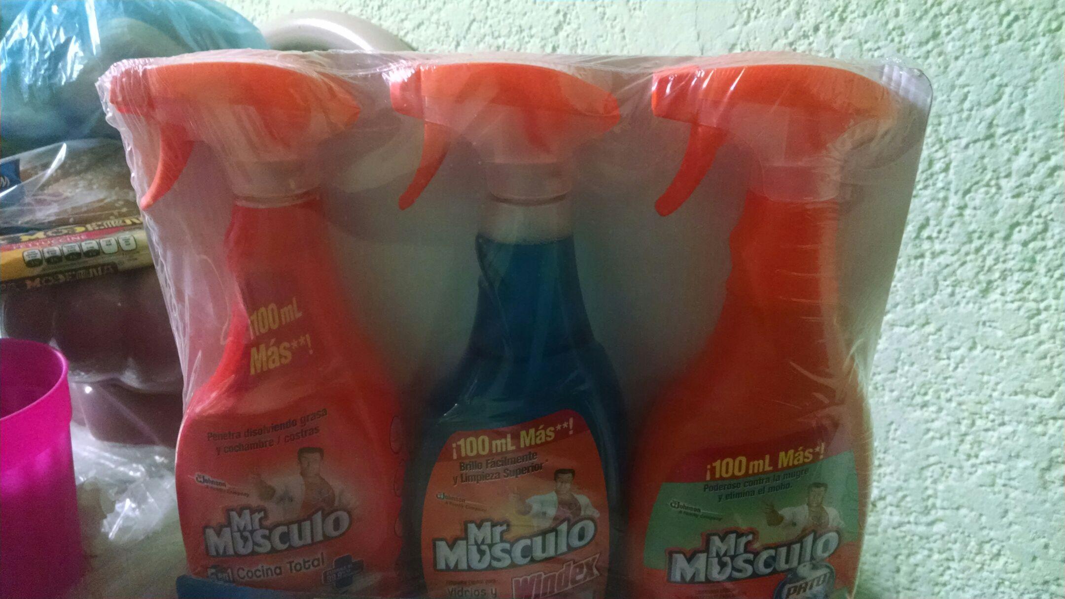 Walmart San Pedro: Mr músculo 3 pack