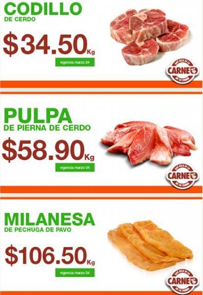 Martes de carnes en La Comer marzo 4