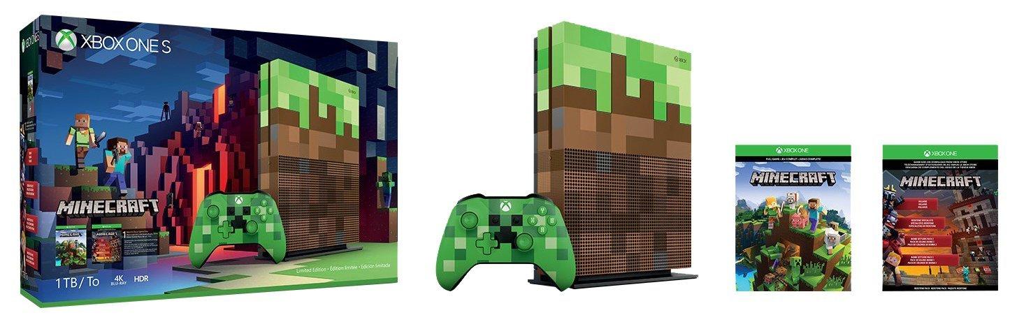 Amazon: Xbox ONE 1tb Edición Minecraft