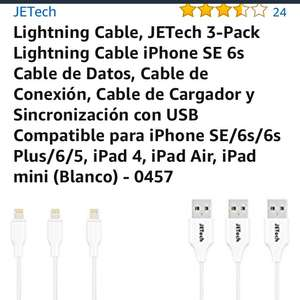 Amazon: Cable lightning paquete de 3!