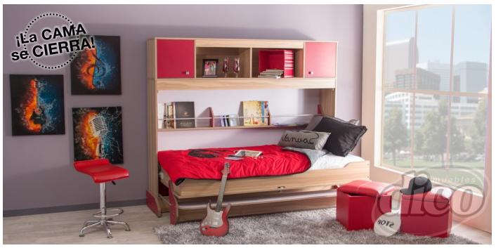 Muebles Dico liquidación - Litera Clever Rojo Estudio de $27,200 a $10,880