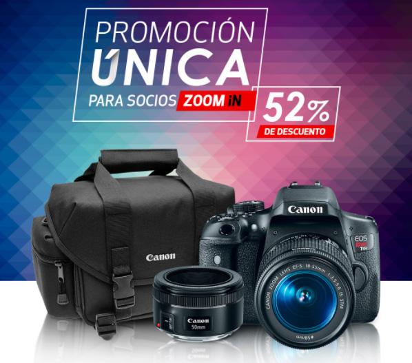 Tienda Canon: Cámara Reflex T6i + Lente 50mm + Maleta