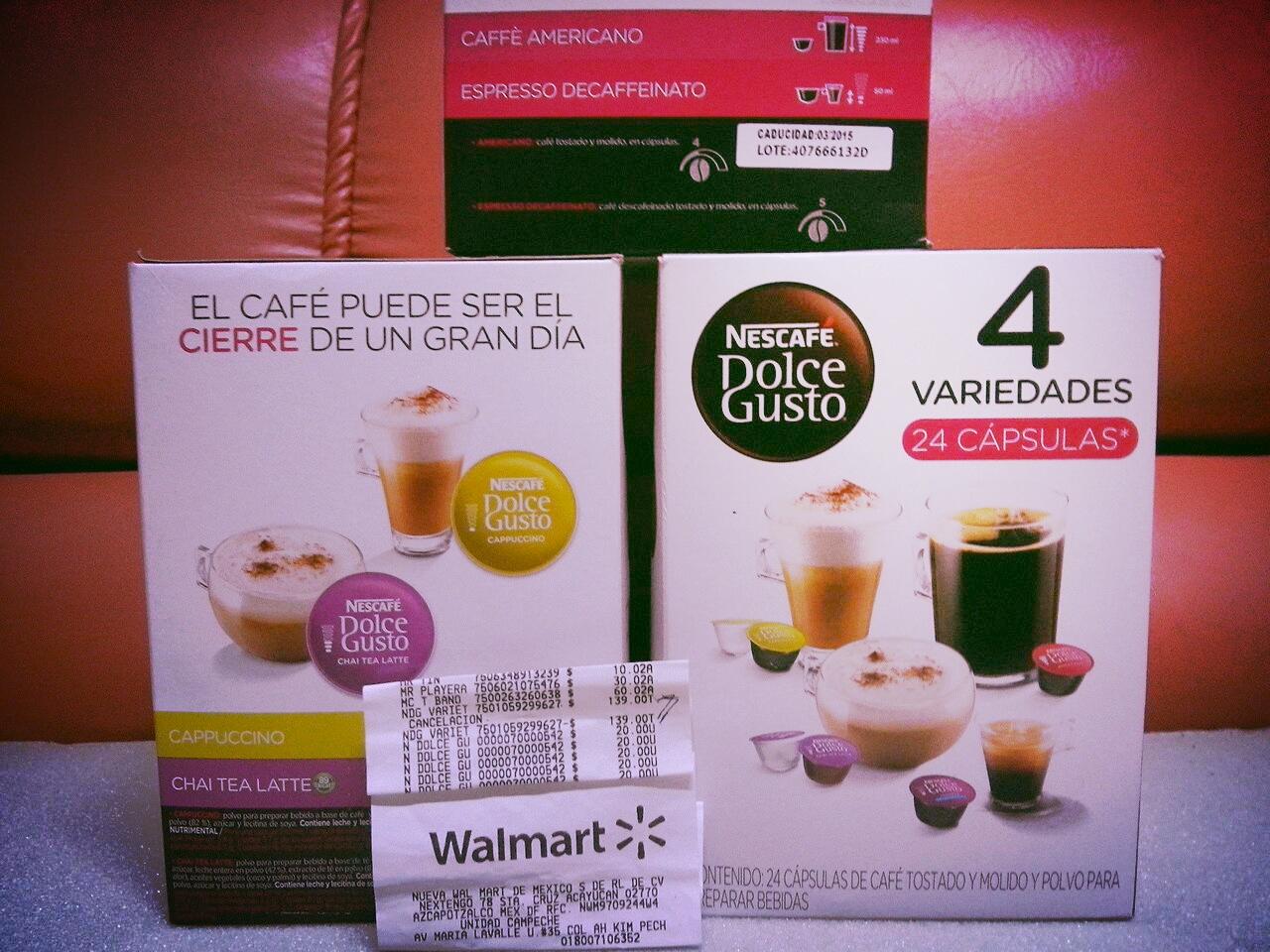 Walmart: Caja con 24 cápsulas Dolce Gusto a $20