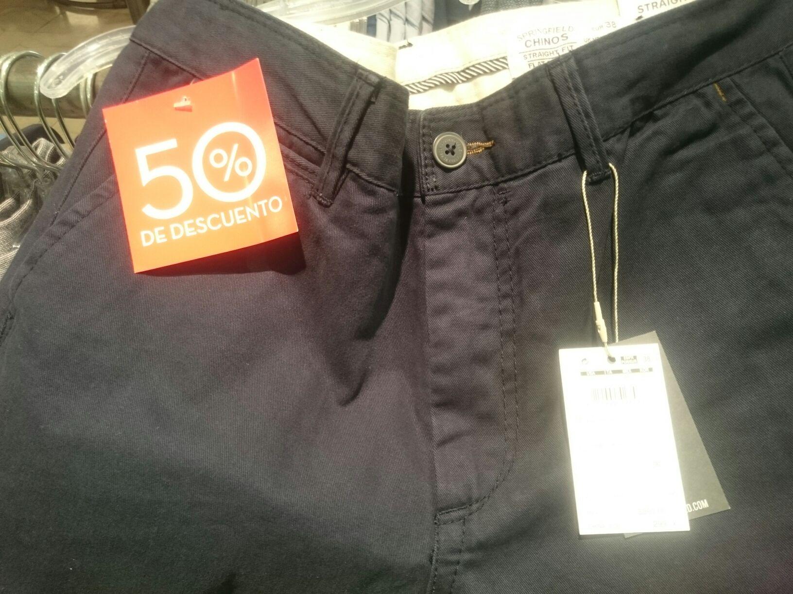 Palacio de Hierro: Pantalón chinos springfield al 50% de descuento