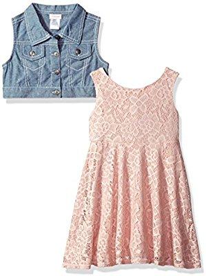 Amazon: vestido y chaleco Youngland de niña
