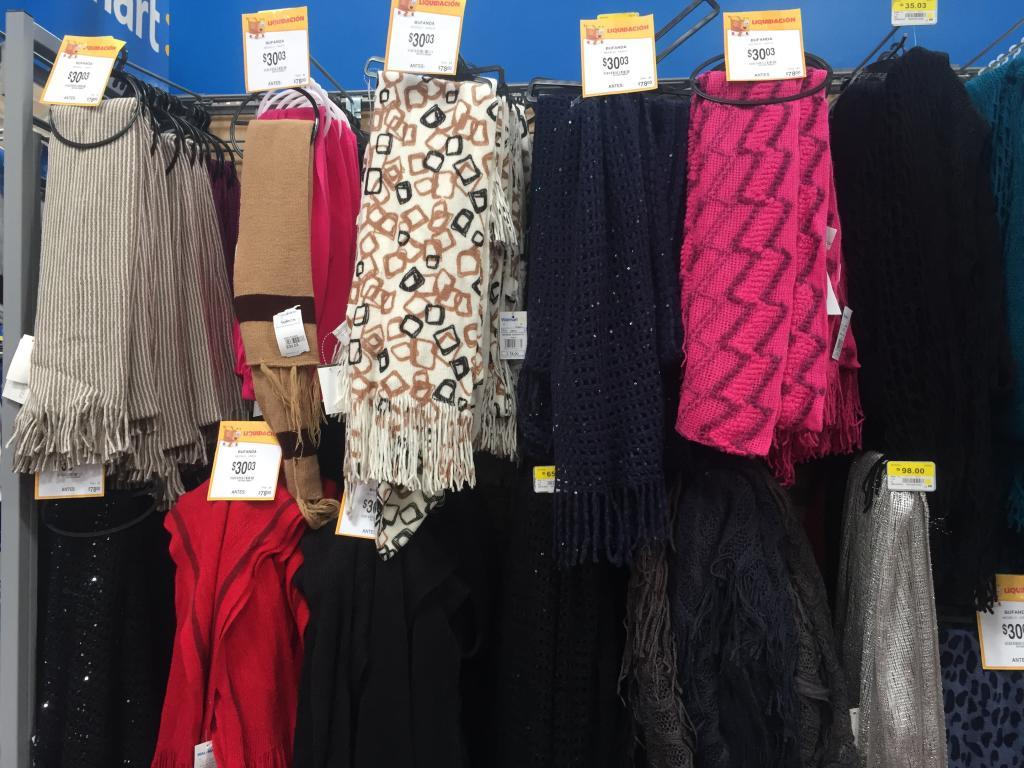 Walmart: Bufandas a $30.03