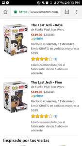 Amazon: Funko Pop desde $149