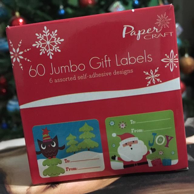 Paquete de 60 etiquetas navideñas jumbo en La Comer