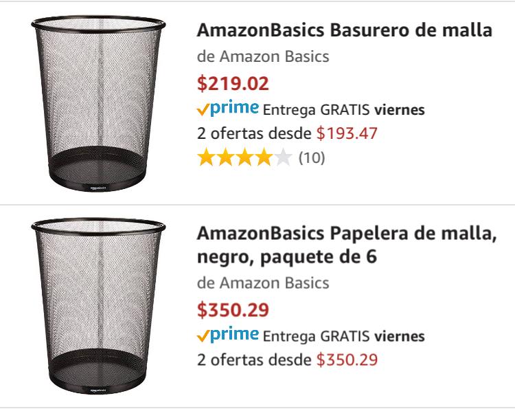 Amazon: Basurero de malla paquete de 6 buscale un uso