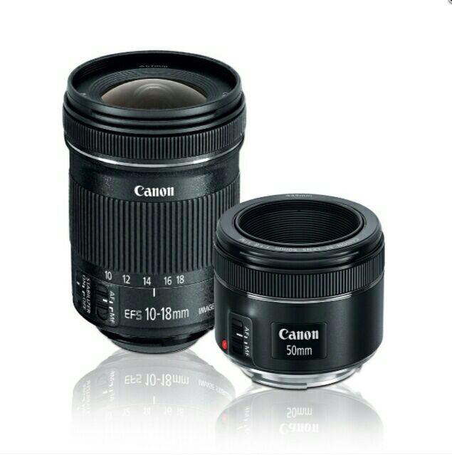 Sears: Kit de Lentes Canon Ef 50Mm F/1.8+Ef-S 10-18Mm