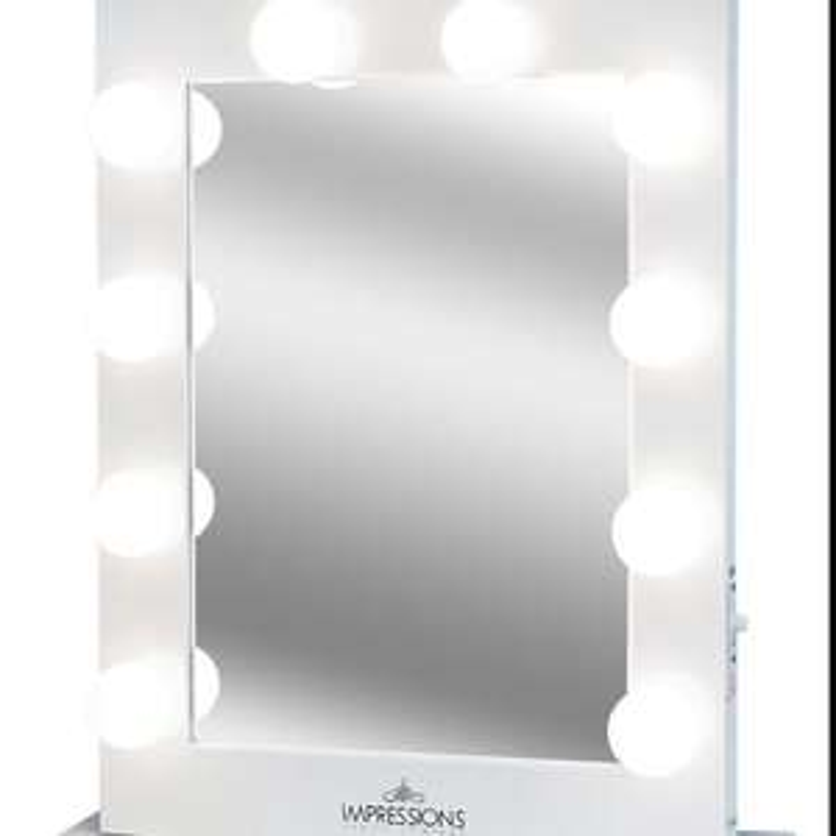 Amazon: Hollywood Mirror, White, X-Large