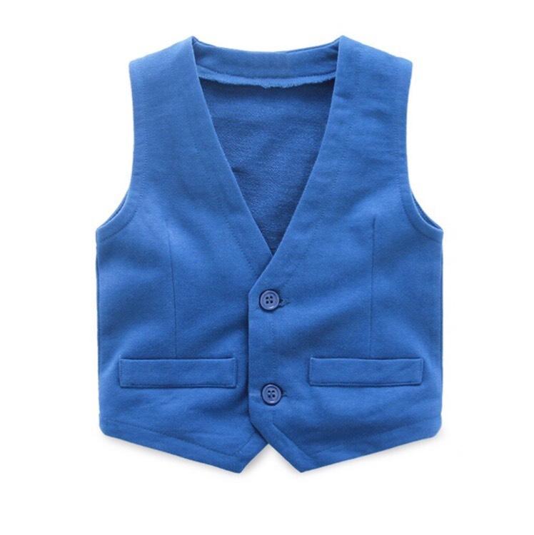 Amazon: Chalequito Azul para niños (precio más $64 de envío desde China)
