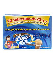 Chedraui: 20 sobres de chocomilk de 95 (precio inflado) a 38