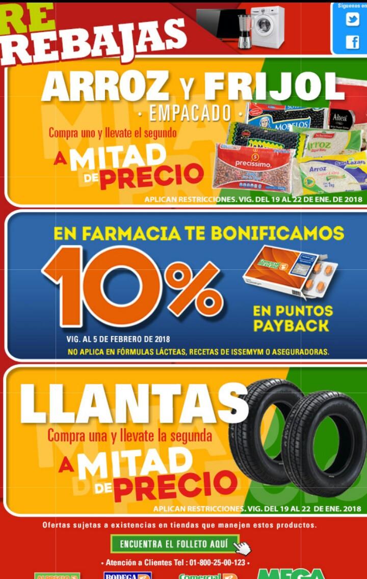 Comercial mexicana y MEGA: Regresa el 2x1 1/2 en llantas este fin de semana