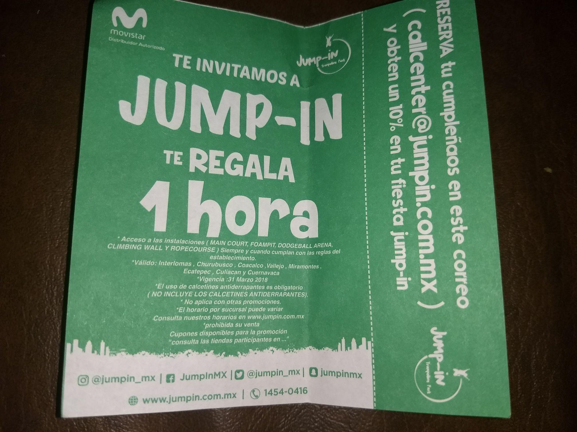 Jump-in Premio movístar al recargar $300