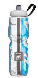 Amazon: Polar Bottle Botella de agua aislante, azul claro/negro, 700 mL
