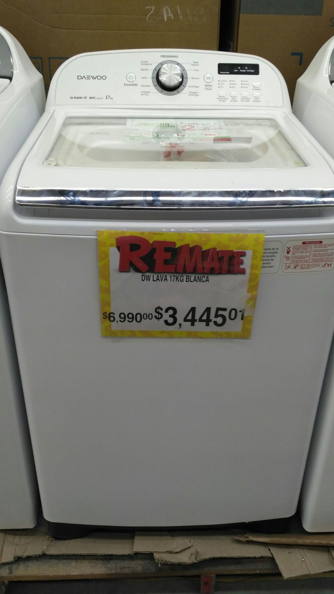 Bodega Aurrerá Tepatitlan: lavadora daewo de 17 Kg a $3,445.01