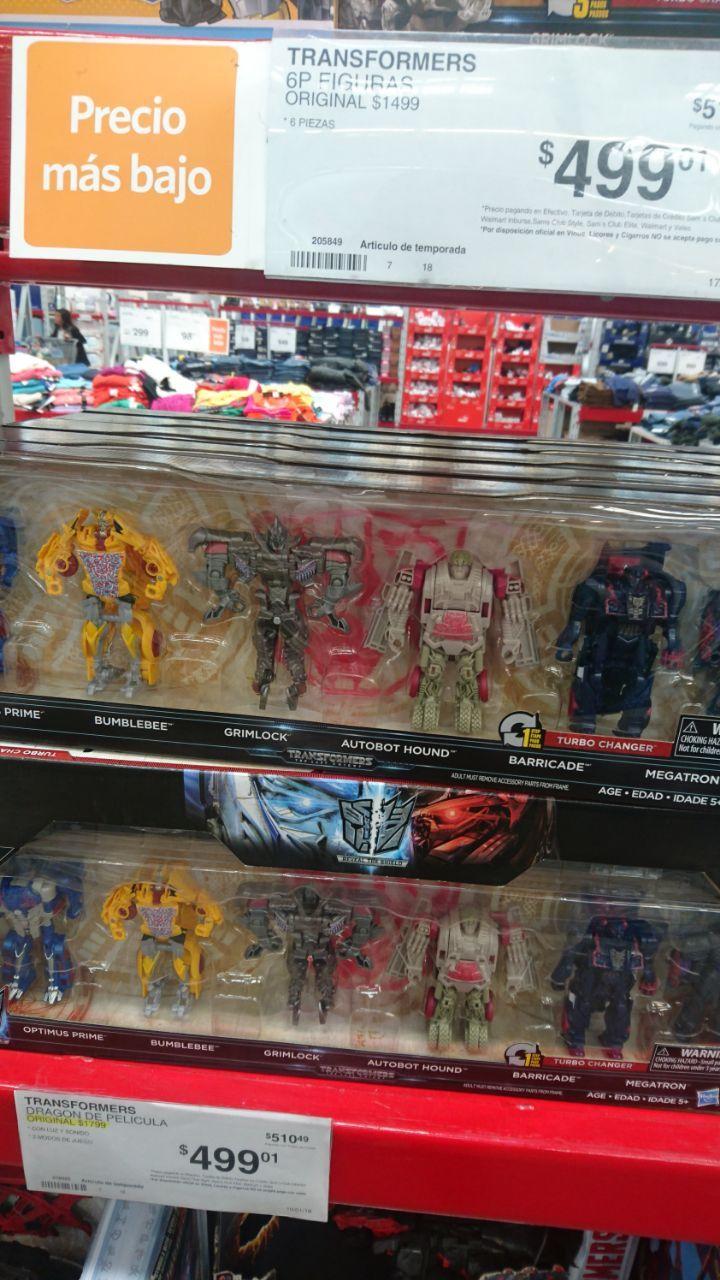 Sam's Club: Paquete de 6 Transformers