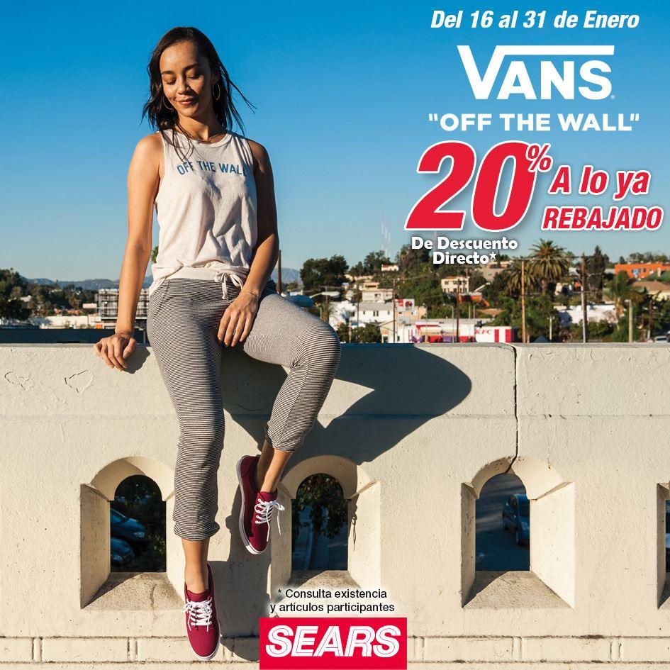 Sears: 20% DESCUENTO VANS