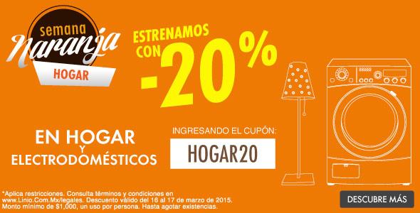 Linio: Semana Naranja 20% de descuento en hogar artículos seleccionados