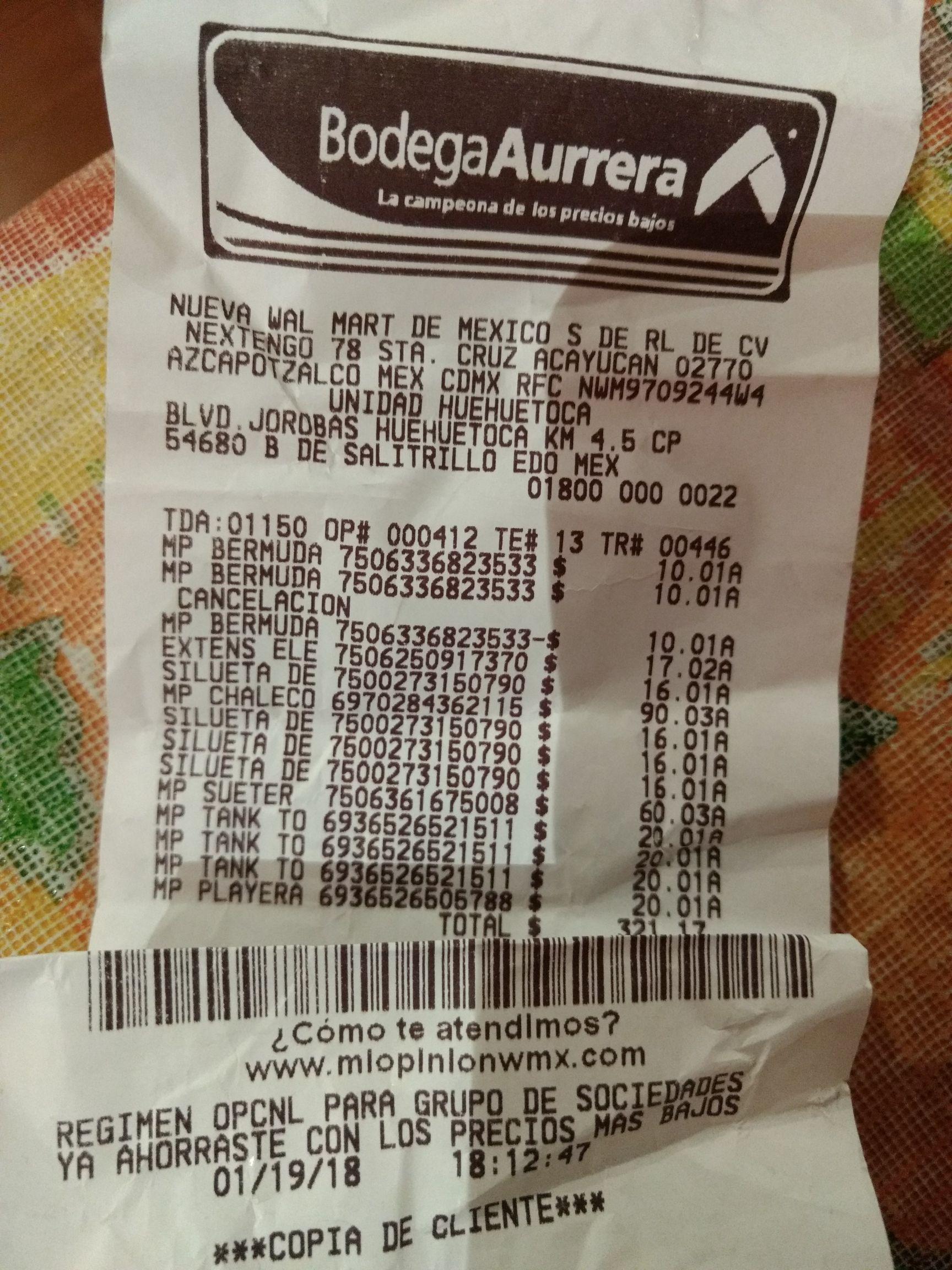 Bodega Aurrera ofertas desde .03, .02 y .01