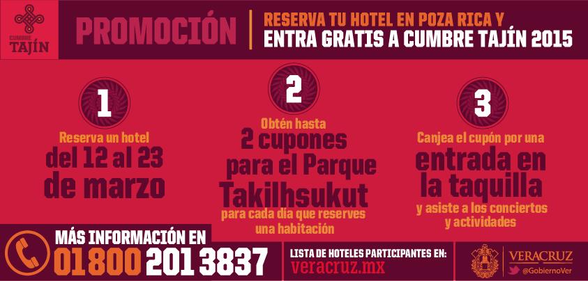 Cumbre Tajín 2015: Gratis al reservar hotel