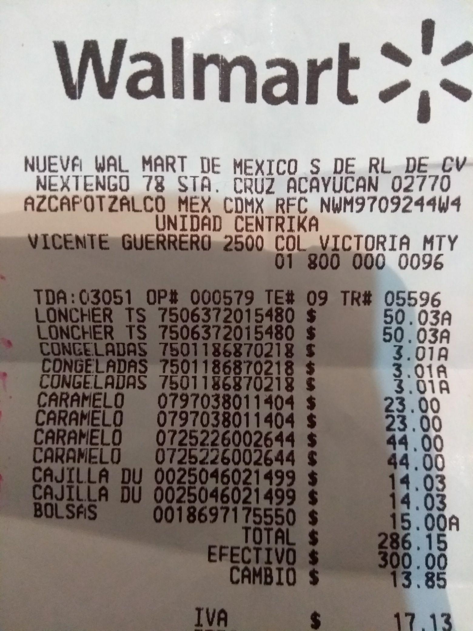 Walmart plaza céntrica Monterrey nuevo León: liquidación lonchera