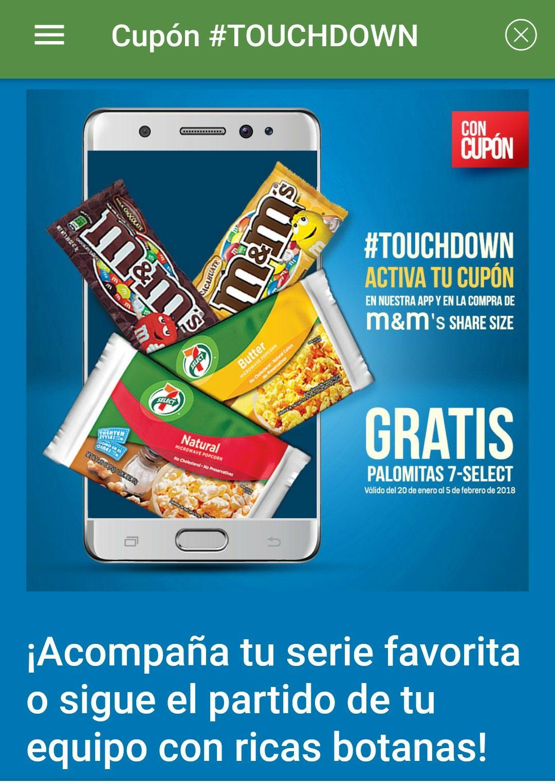 7-Eleven: En la compra de unas m&m's share size de 89 g o 92.7 gr, recibe unas palomitas 7-select gratis