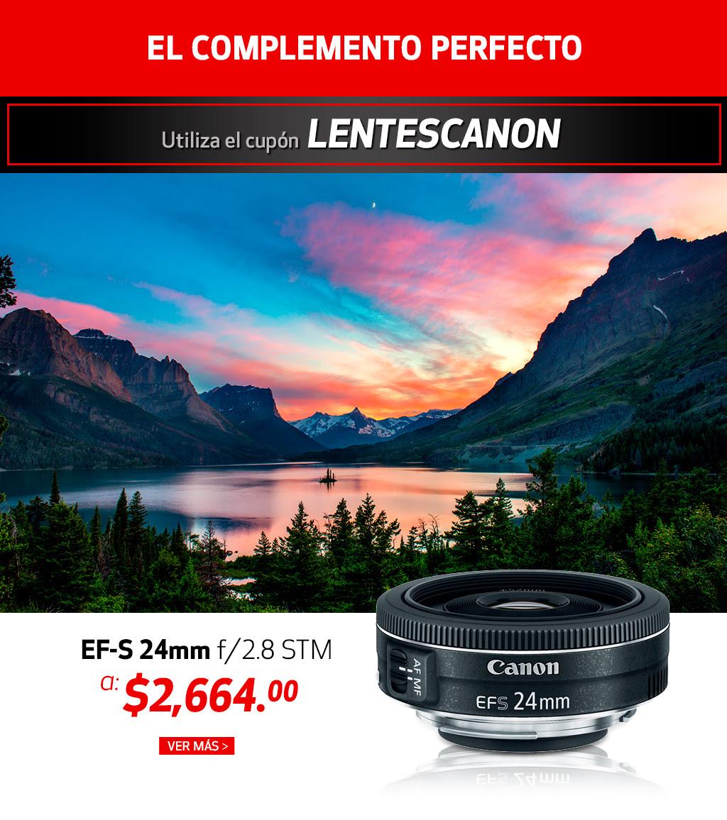 Tienda Canon: Cupón de descuento en varios lentes