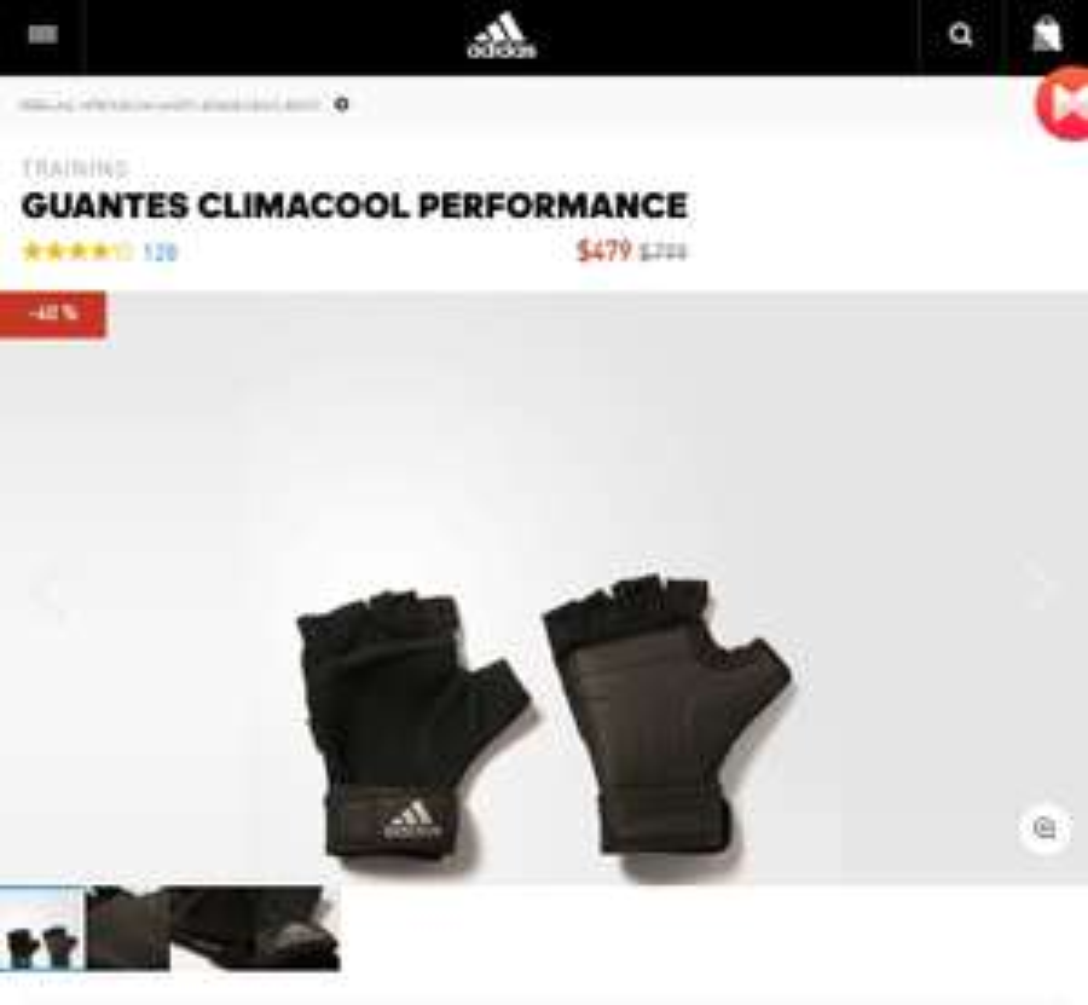 Adidas: Guantes Gym Climacool