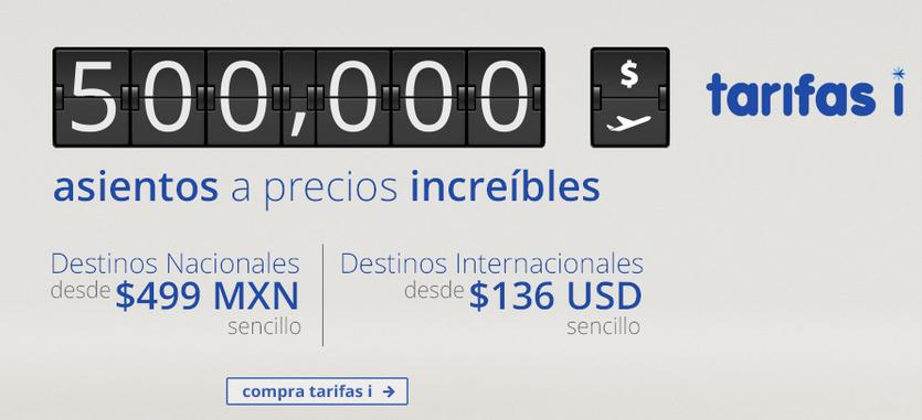 Interjet: Vuelos sencillos nacionales desde $499MXN, internacionales desde $136USD