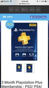 CDKEYS: PlayStation Plus 3 meses a $15 USD Cuenta USA