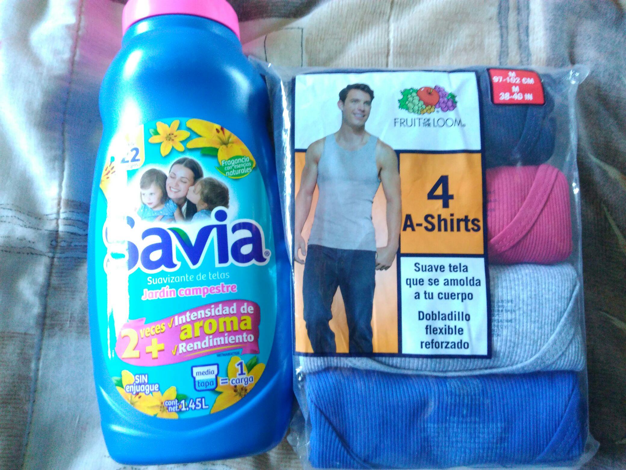 Bodega Aurrera: savia 1.45 lts. Y camisetas