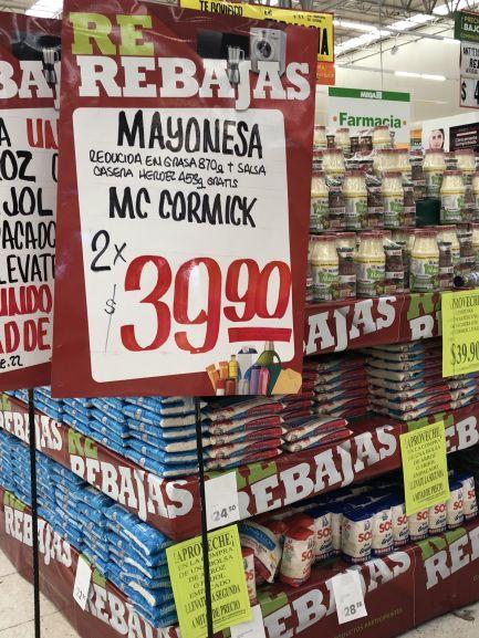 Comercial Mexicana: Mayonesa Mc Cormick 2 x $39.90
