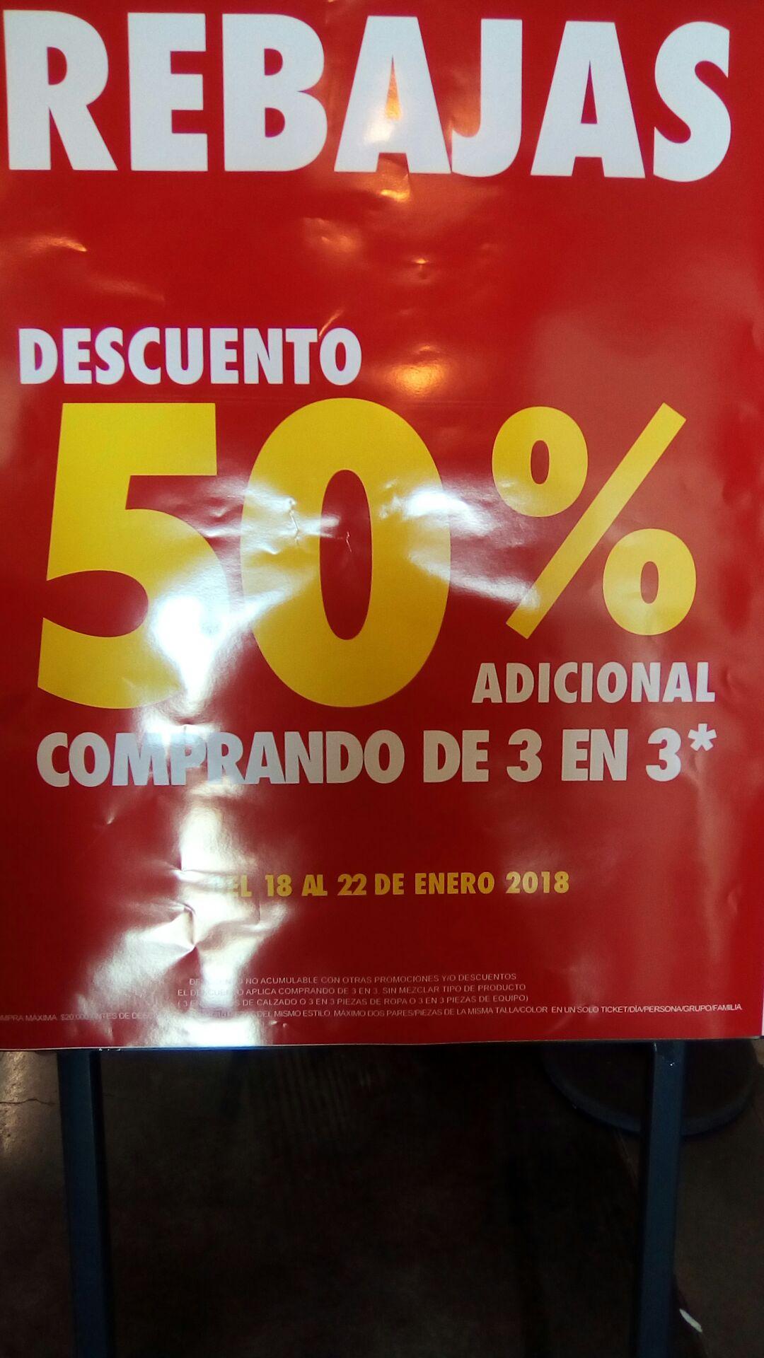 Nike Factory Store: 50% de descuento comprando de 3 en 3