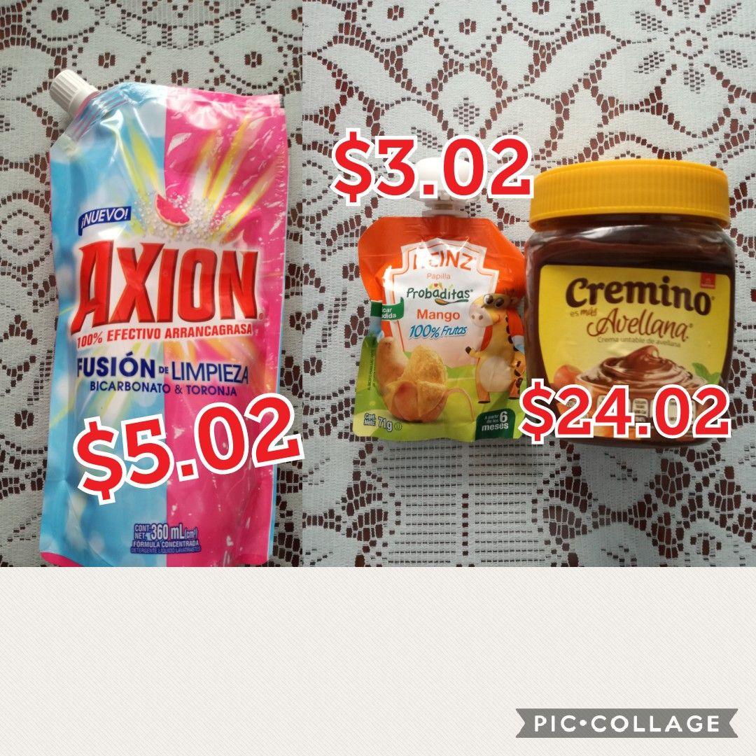 Walmart heinz mango $3.02, axion $5.02,cremino $24.02 y mas