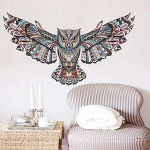 GearBest: 3D Creative Owl Design Wall Sticker  -  45CM X 60CM  COLORMIX