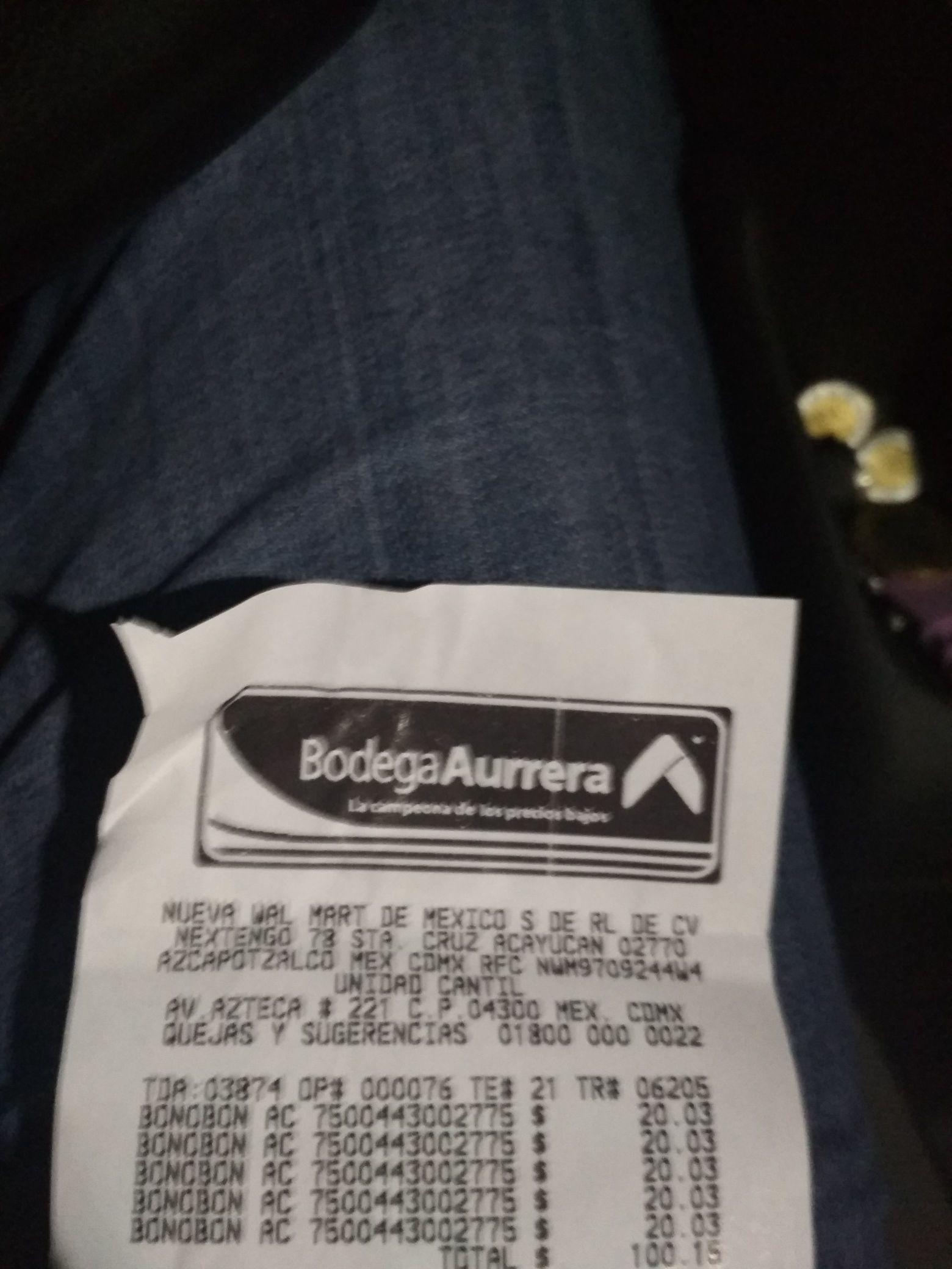 Bodega Aurrerá: bon o bon caja acrílica promoción