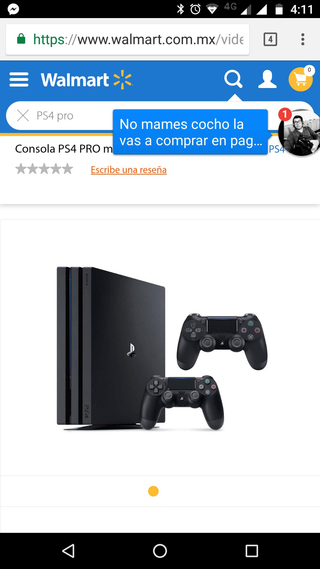 Walmart: PS4 pro más dualshock