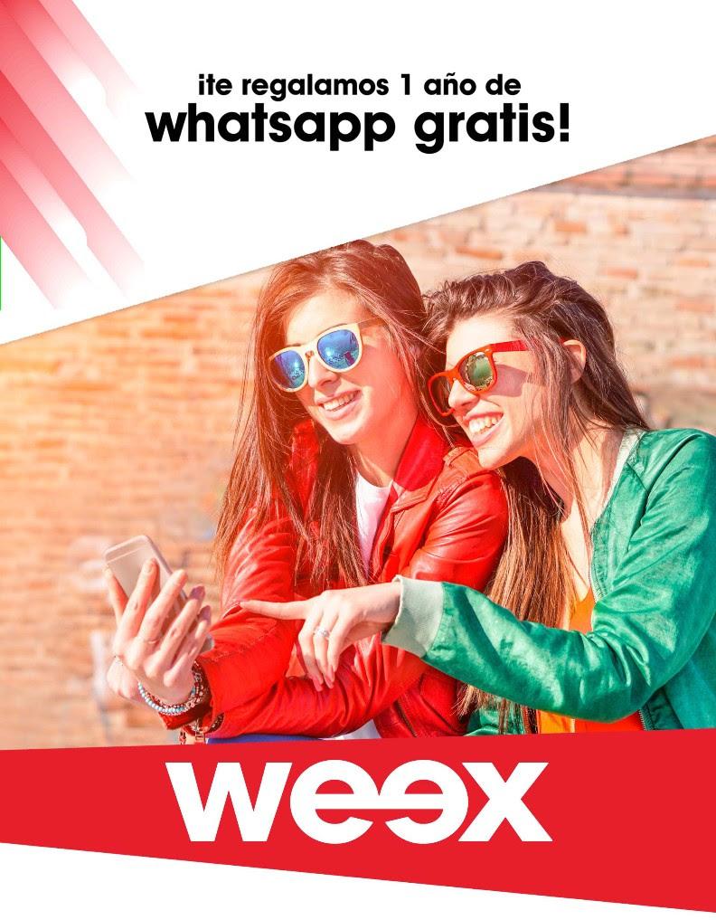 WEEX: Gratis chip y 1 año de Whatsapp