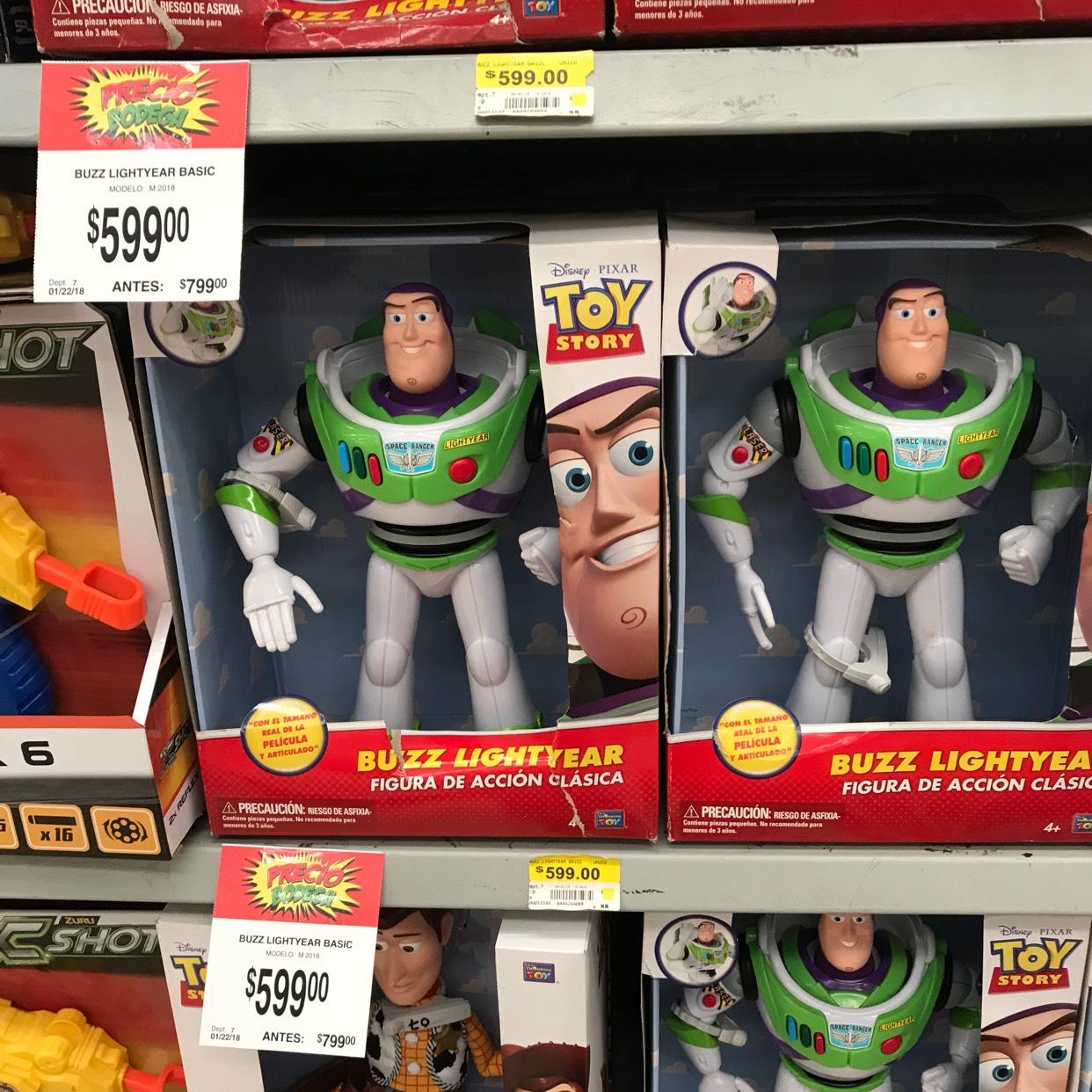 Bodega Aurrerá: Buzz Lightyear a $599