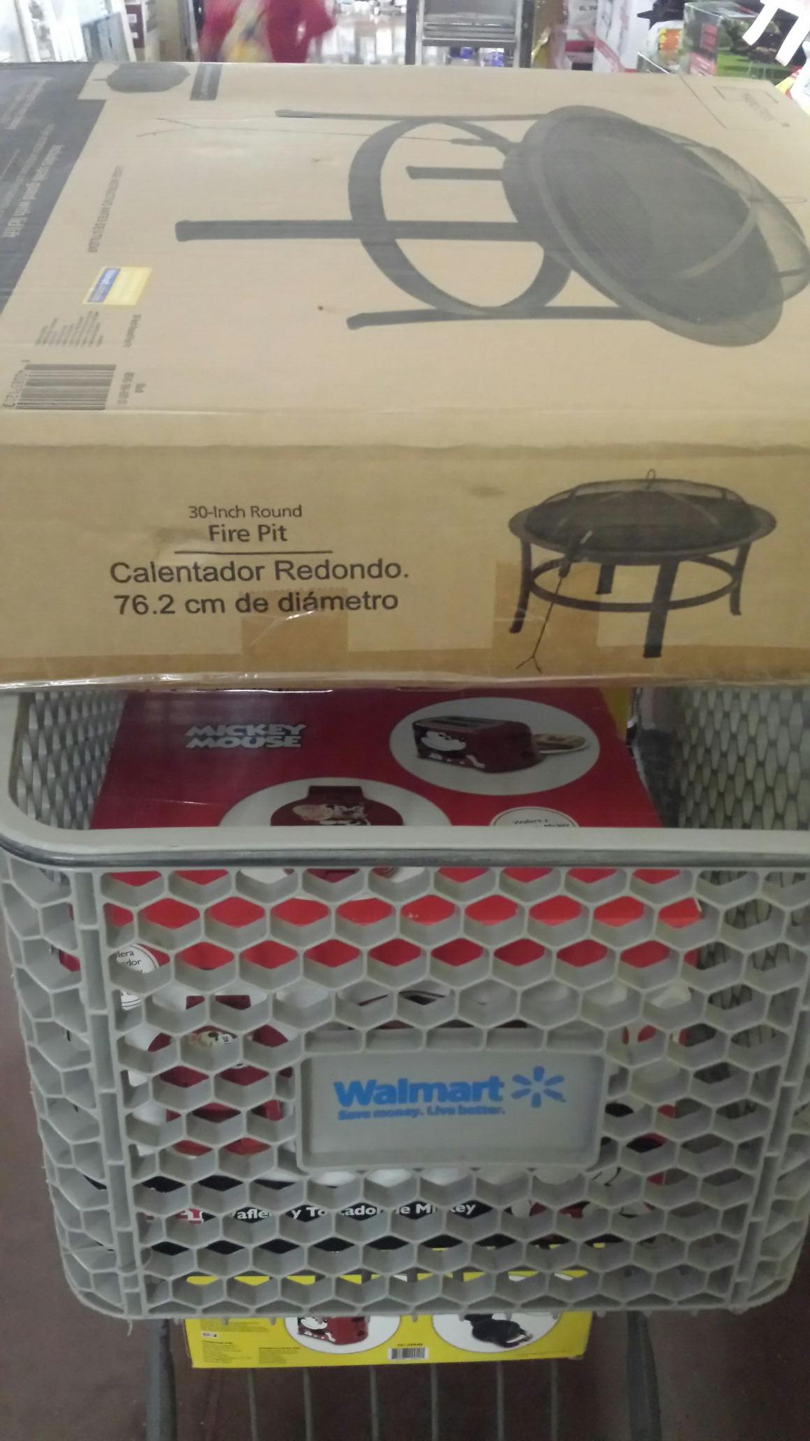 Walmart Sendero Mty.-fire pit 149.01y tostador micky 200.01 ofertas ya expiradas hace meses