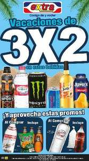 Tiendas Extra: 3x2 en varias cervezas, Boost, Jumex Sport y más