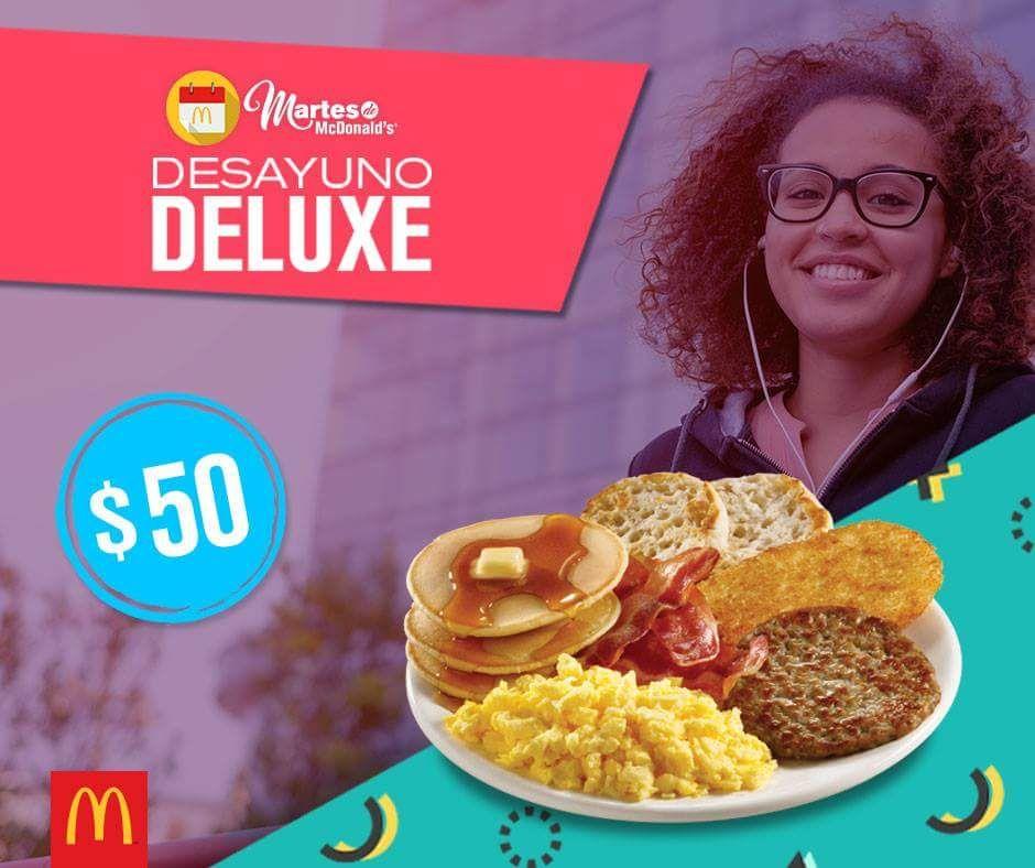 McDonald's: Cupón para Desayuno deluxe Mcdonald's