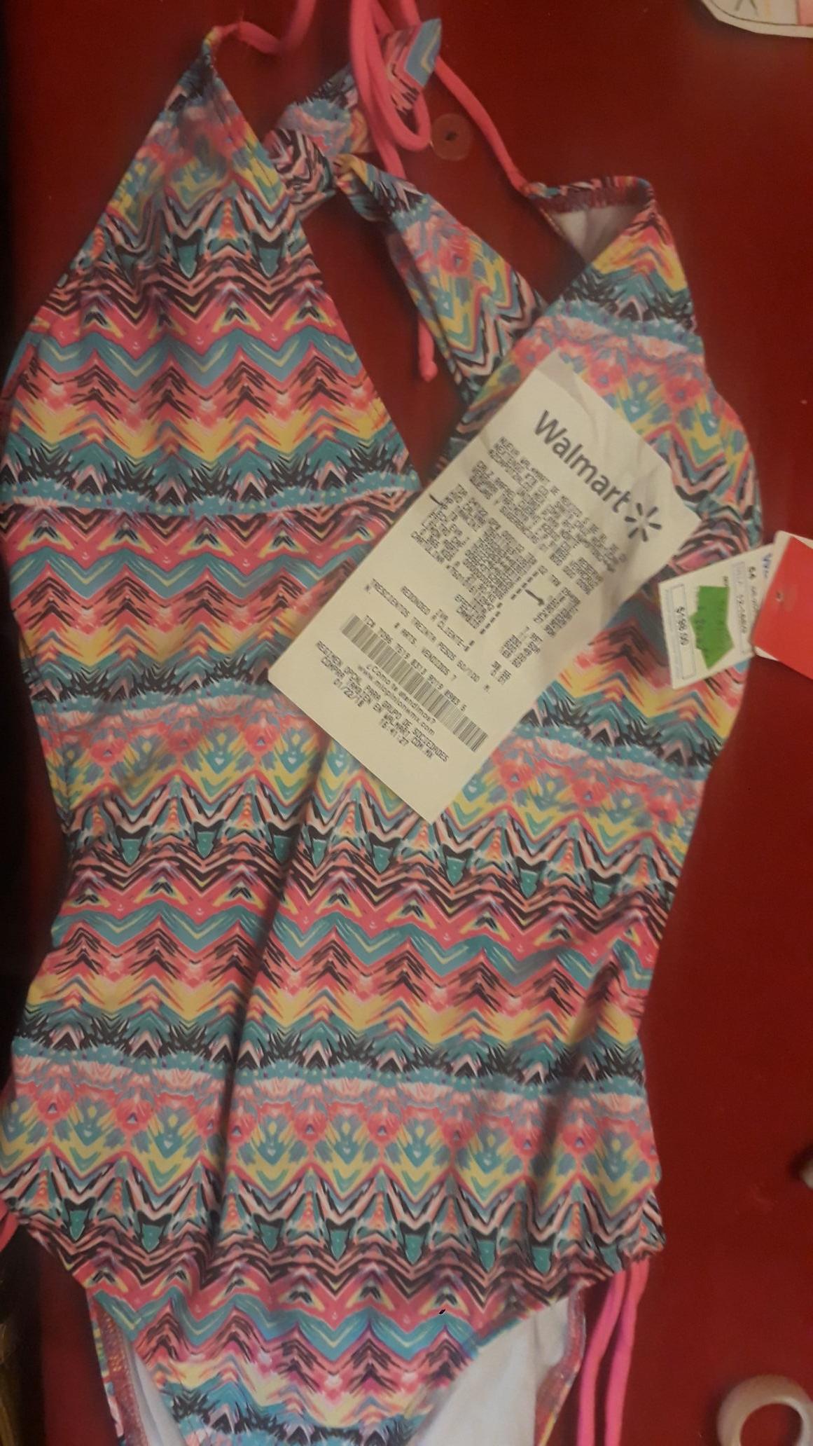 Walmart norte veracruz: Traje de baño para niña talla 14 $90.02