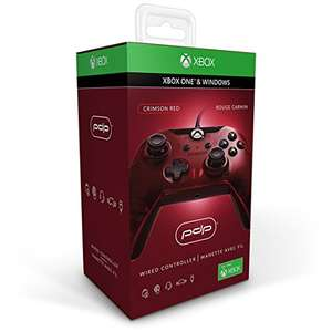 Amazon: Control Alámbrico para Xbox One, color Rojo - Standard Edition *varios colores a ese precio* Performance Designed Products