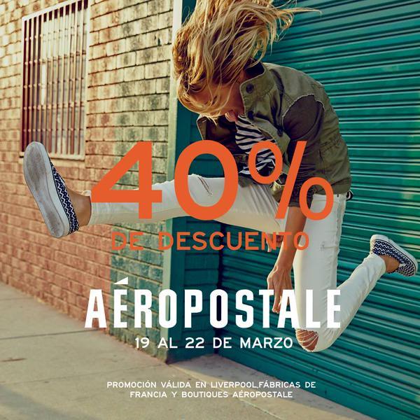 Aéropostale: 40% de descuento en toda la tienda
