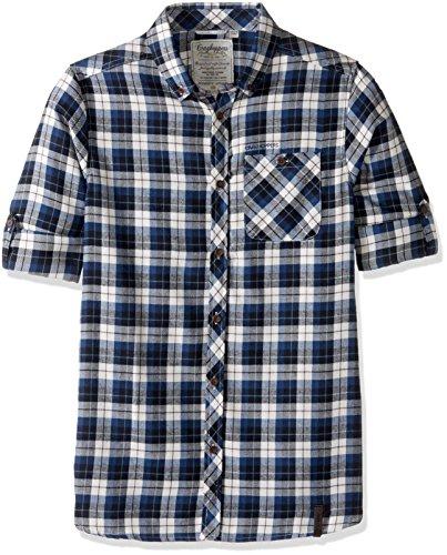 Amazon prime: Craghoppers Camisa de manga larga, talla chica, azul marino, cuadros,