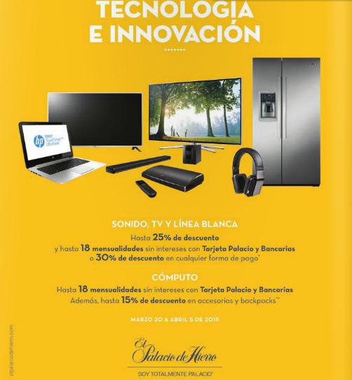 Palacio de Hierro: 30% de descuento en televisiones, sonido y línea blanca
