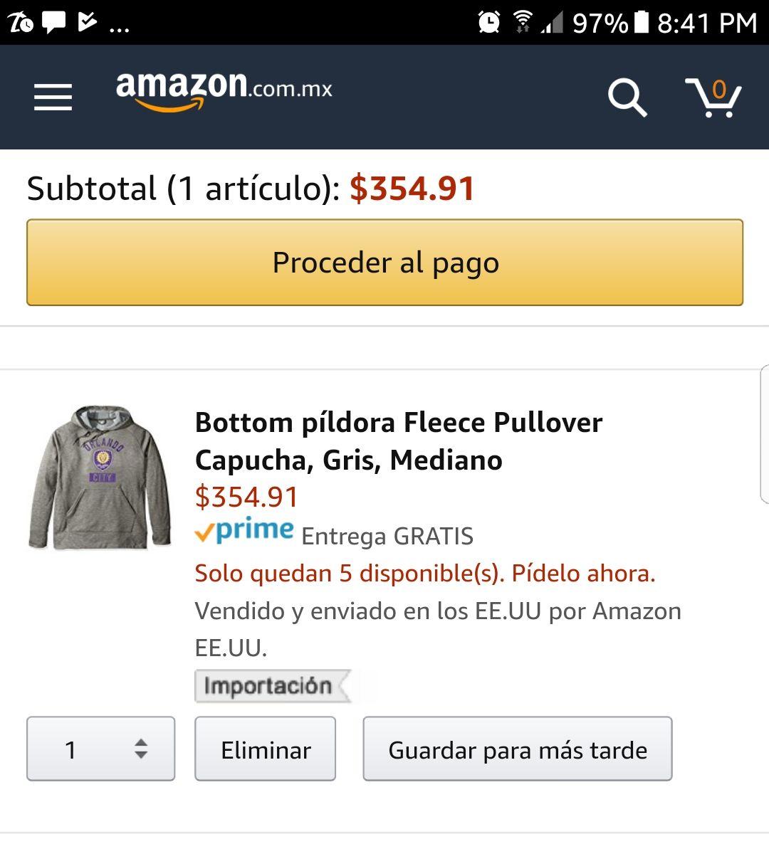 Amazon: Sudadera Adidas mediana aplica Prime